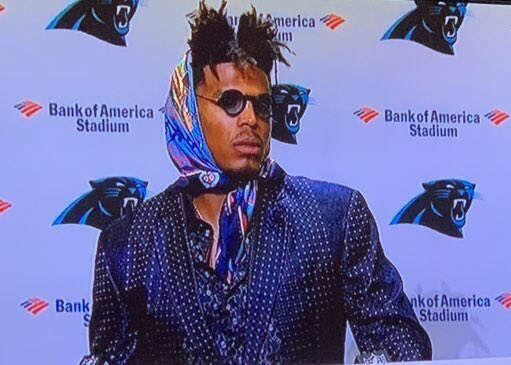 Cam Newton Dresses Like An Idiot After Humiliating Loss To The Buccaneers. Has He Lost His Mind?
