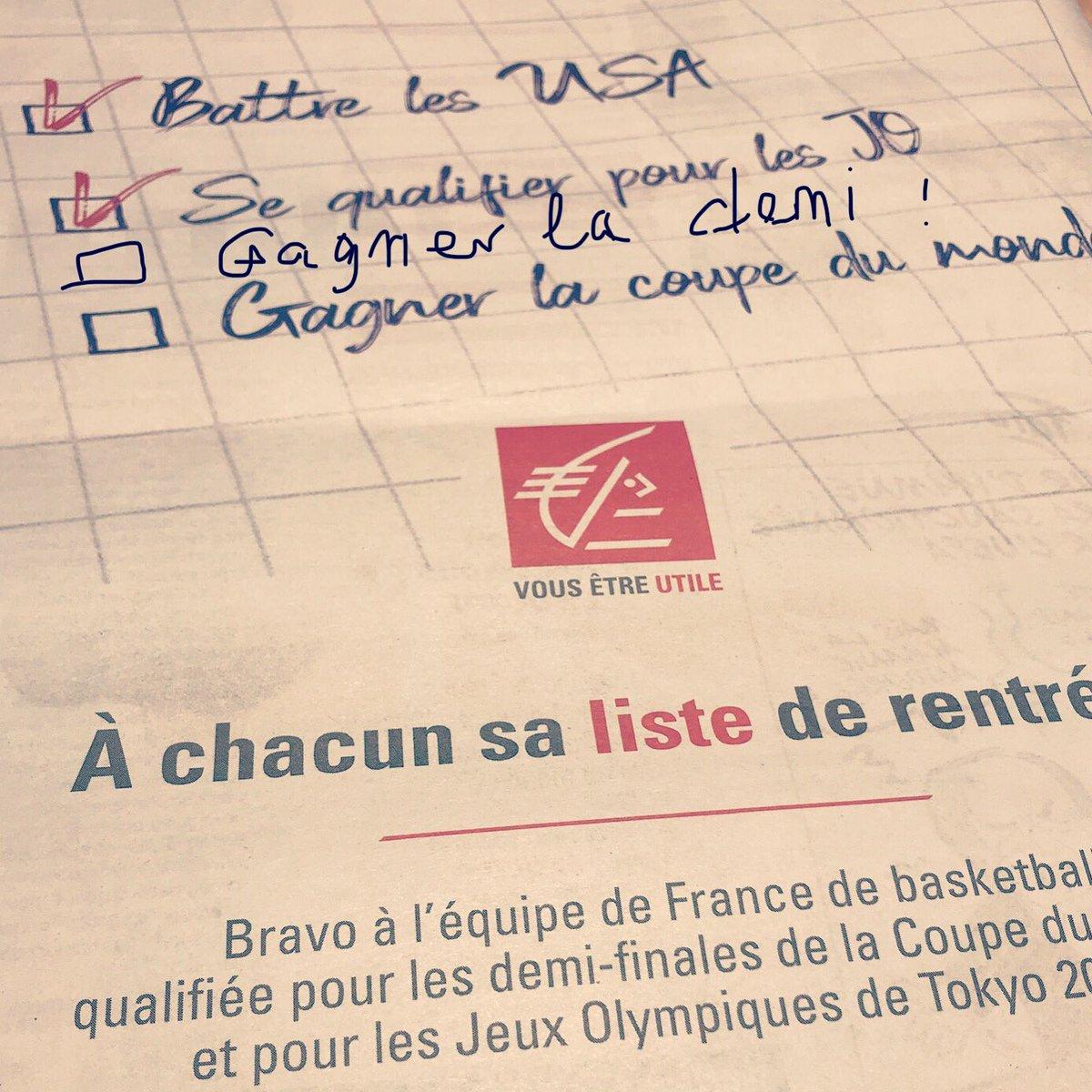 Step by step, la demi d'abord ! @ffbasketball @EspritBasket  #teamfrancebasket #fibawc #worldcup #basketball #caissedepargne #sportbuzzbusiness<br>http://pic.twitter.com/r4FAchv27j