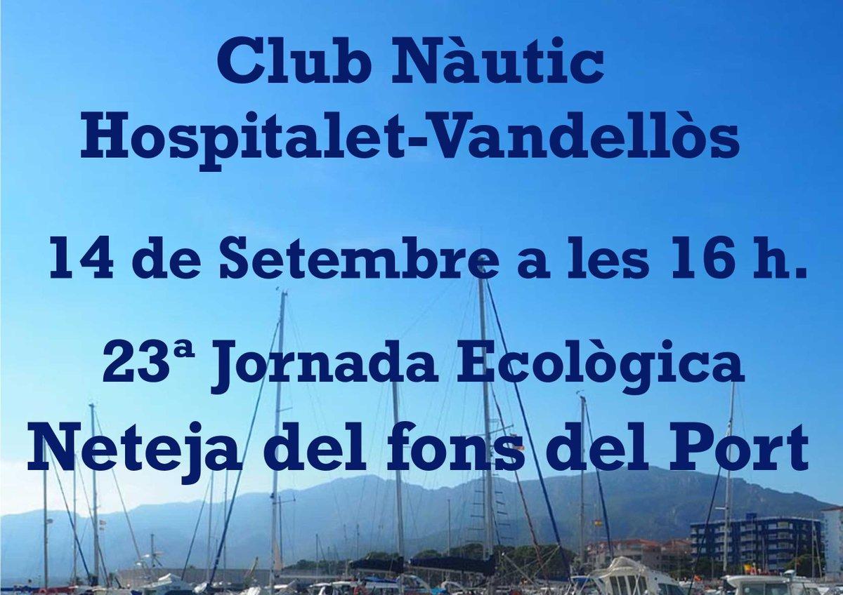 📌 Aquest dissabte 14 de setembre, a partir de les 16:00 hores, 23ª Jornada Ecològica de Neteja del fons del Port de lHospitalet de lInfant. Us hi esperem! amb @GLUPSDIVING #Hospitaletdelinfant #MediAmbient #ClubNàutic