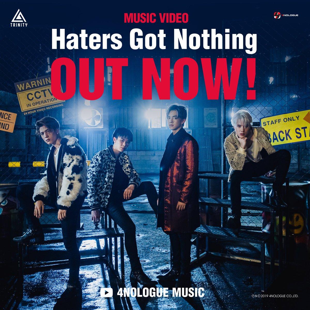 ไปดูกันนนนนน  TRINITY : Haters Got Nothing MUSIC VIDEO YouTube : 4NOLOGUE MUSIC >>  http:// bit.ly/TRINITYMV       ALBUM ON ALL STREAMING l AVAILABLE NOW!  THE FIRST DEBUT STAGE l 17.09.2019 l 6 PM (ICT) l AT CENTRAL WORLD SQUARE B-C . #HatersGotNothingMV #TRINITY_TNT<br>http://pic.twitter.com/nk6CTV9iSX