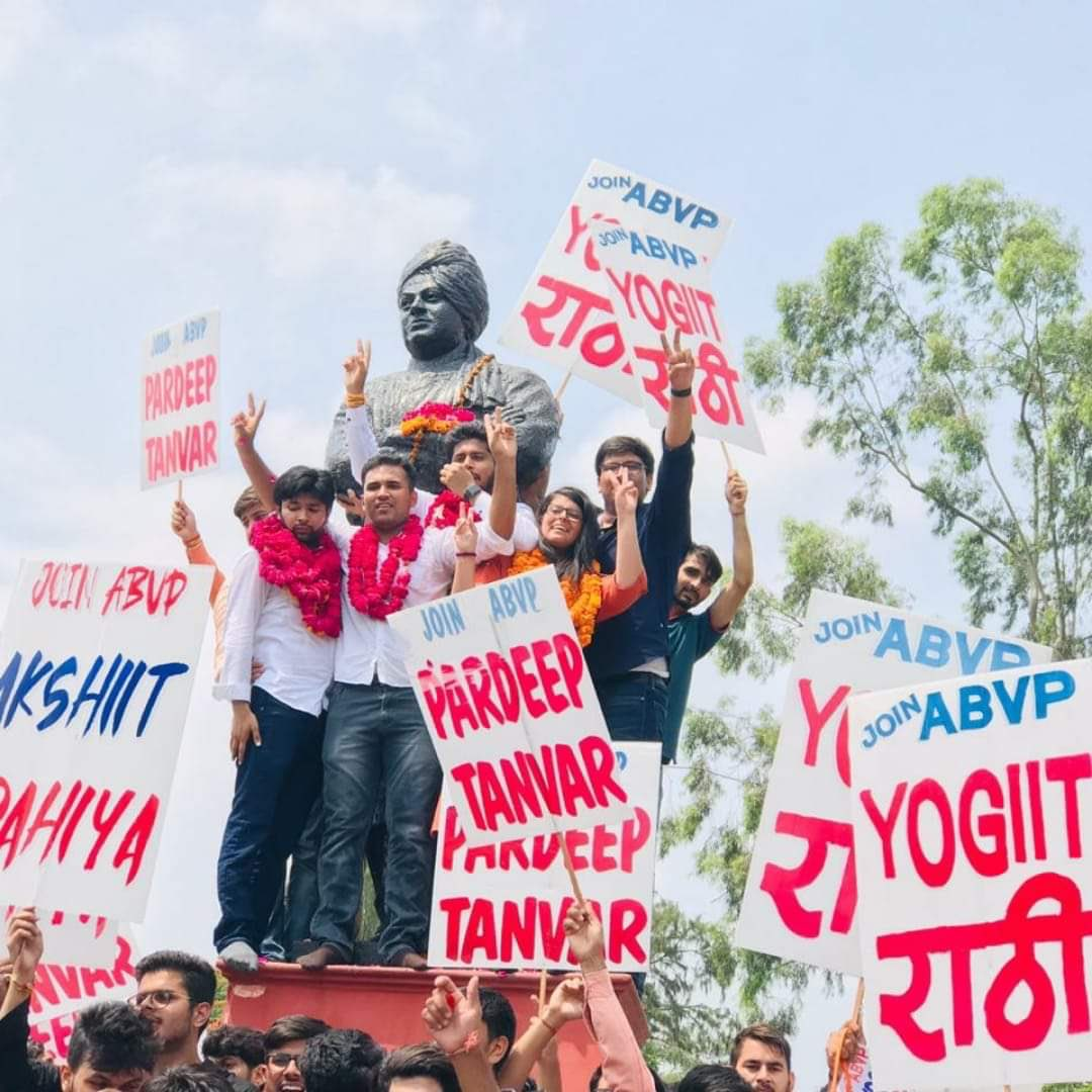 Kudos to @ABVPVoice Candidates for winning Delhi University Students' Union Elections. Once more the youth have given the verdict that they are for nationalism. More power to you! #ABVP #DUSUElection2019 <br>http://pic.twitter.com/QQJ7YZn0dZ