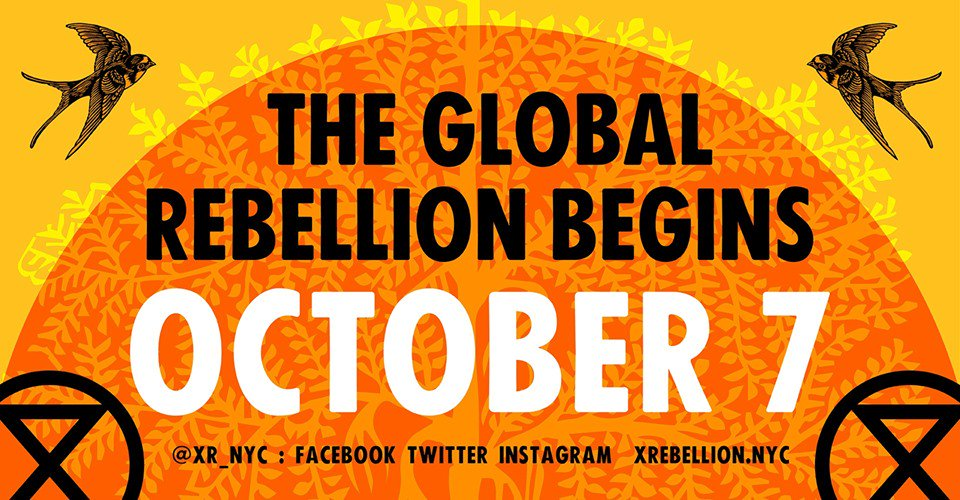 This is a public announcement 📢. @ExtinctionRebel will shutdown New York from 7 October to force their government to #ActNow on the climate and ecological emergency 🚨: facebook.com/events/6847042… @XR_NYC #InternationalRebellion #WorldwideRebellion #RebelBeyondBorders