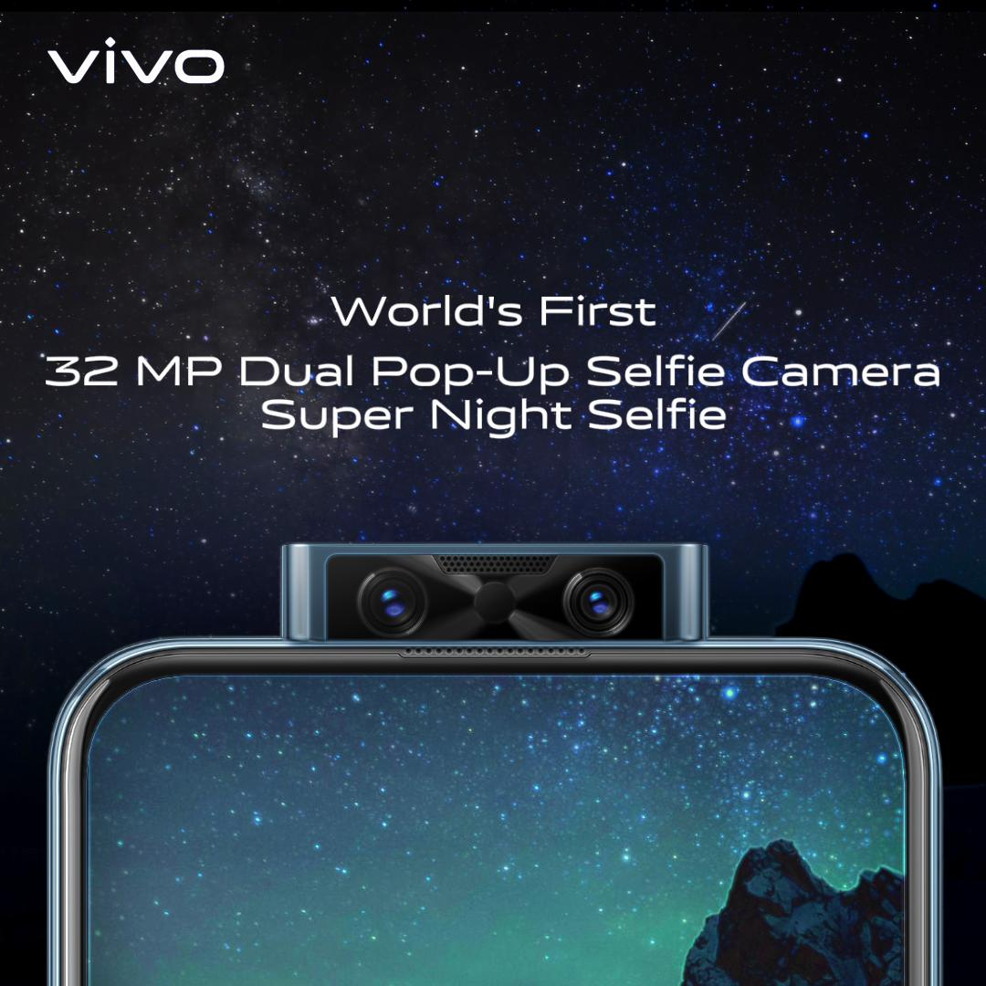 When the night falls and the stars come out, only some of us can see in the dark. Get ready for the World's First 32MP Dual Pop-up Selfie. Super Night Selfies are now #ClearAsReal. #vivoV17Pro Launching on 20th September, 12 PM.