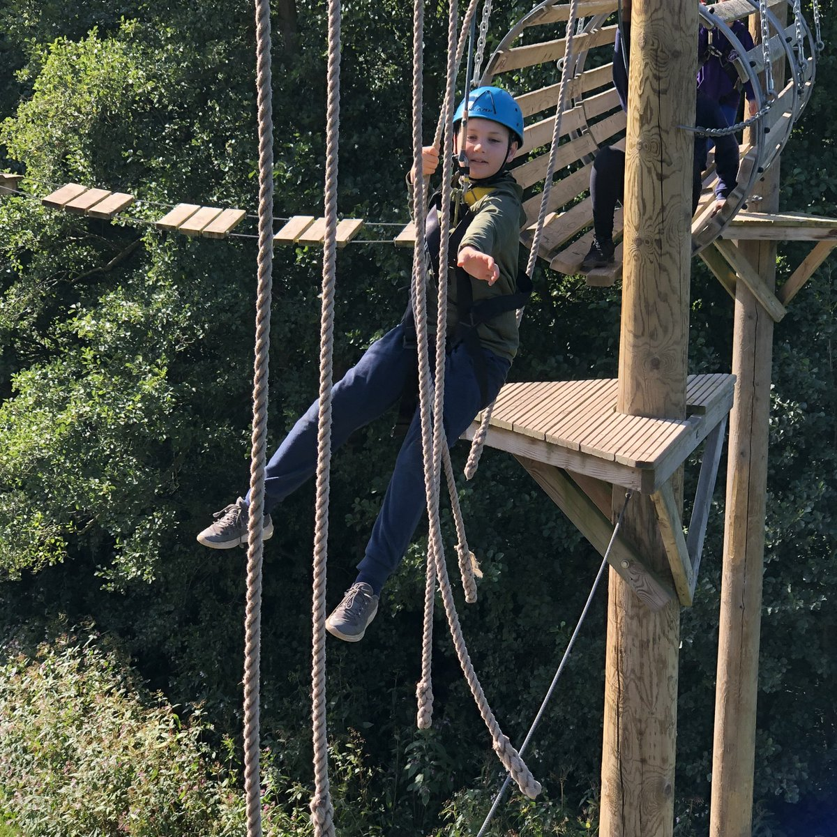 Couldn't be more pleased to know we've helped @EPSResidentials students conquering their fears (with big smiles!) and bonding as a team over their residential at Condover Hall 🙌💚