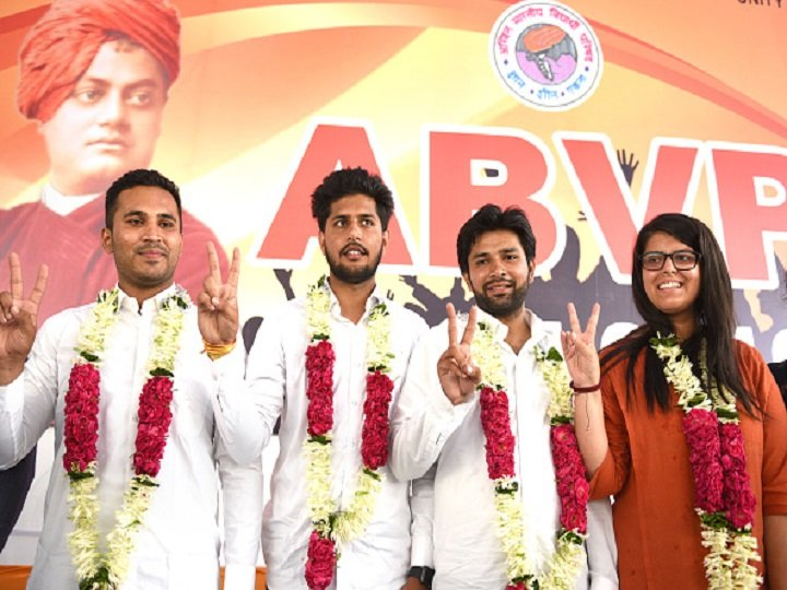 #DUSUElection2019 Result: #ABVP Bags Polls With 3 Seats, #NSUI Wins Secretary Post  Details:  https://www. abplive.in/india-news/dus u-election-result-2019-abvp-bags-polls-with-3-seats-nsui-wins-secretary-post-1073351   … <br>http://pic.twitter.com/0JLjD7TR8D