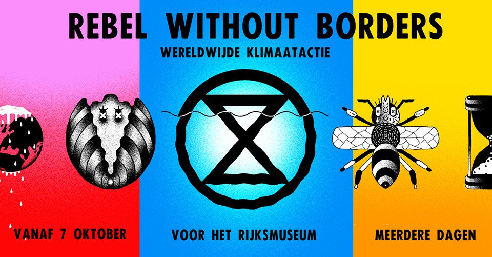 This is a public announcement 📢. @NLRebellion will shutdown Amsterdam from 7 October to force their government to #ActNow on the climate and ecological emergency 🚨: facebook.com/events/1877626… @XR_Amsterdam #InternationalRebellion #WorldwideRebellion #RebelBeyondBorders