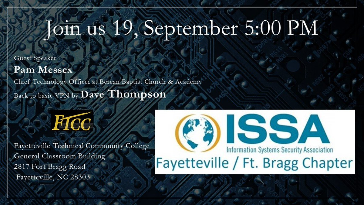 RT @ISSA_FFB: We look forward to meeting you! https://t.co/eLV1fkHFQd