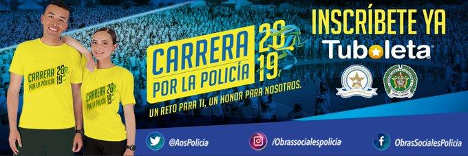 .@AosPolicia en beneficio de la Policía Nacional invita a todos a participar próximamente en la #CarreraPorLaPolicía ¡Un reto para ti, un honor para nosotros!