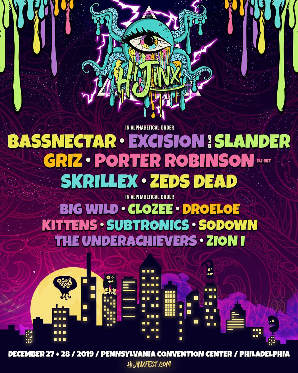 WE'LL BE OUT IN PHILADELPHIA THIS DECEMBER FOR @hijinxfest LETS GO! TICKETS ON SALE NOW hijinxfest.com