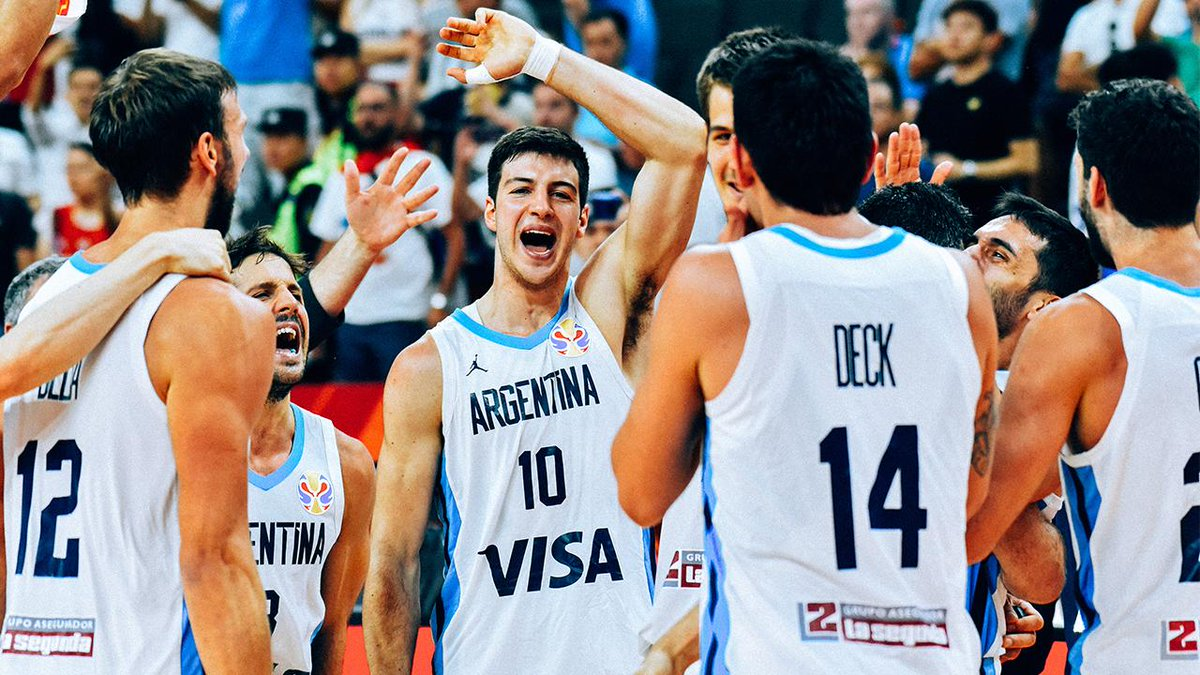 Owning the moment.  @Cabboficial is on to the finals of the @FIBAWC with their sights set on the 🏆.