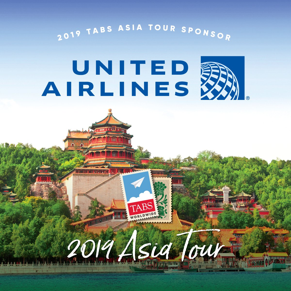 Thank You United Airlines for joining us as Sponsor of TABS Asia Tour 2019! Register Now: shorturl.at/cortu
