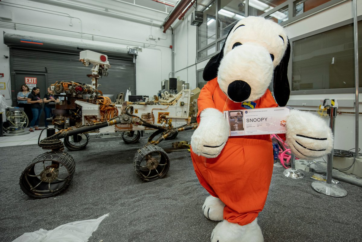 The beagle has landed. #AstronautSnoopy came to visit @NASAJPL this week and learn all about my home, Mars! Join @Snoopy in sending your name on board @NASA's next rover, #Mars2020. Submit your name by Sept. 30 at go.nasa.gov/Mars2020Pass