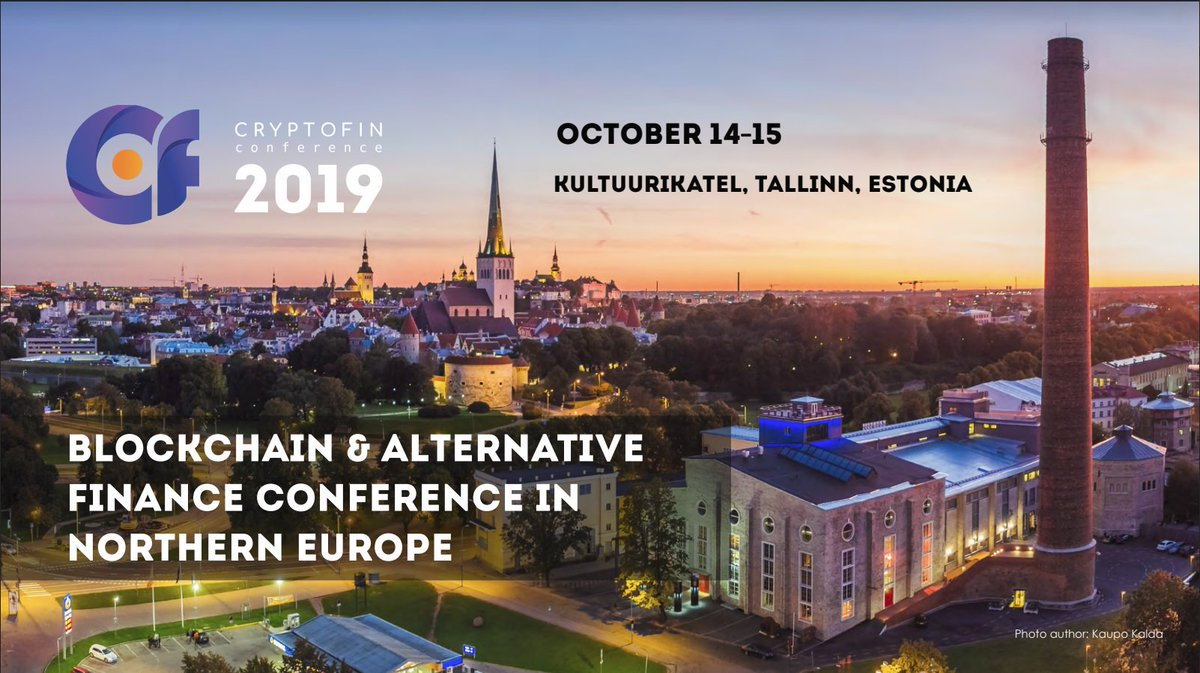 Passionate about #blockchain, #crypto and the future of #finance? Come to @CryptoFinConf Oct 14-15! #Tallinn #ad  2 days 1200 m2 Expo 700+ visitors 30+ top speakers  venue Startups & global investors Networking (movie night, afterparty) App for attendees  http://www. cryptofinconf.com    <br>http://pic.twitter.com/21Dyzck22J