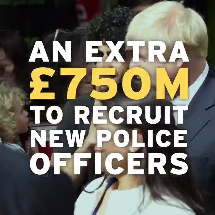 We're keeping your streets safe, investing in #OurNHS and giving your kids a great education by:🚔 recruiting 20,000 more police officers🏫 levelling up schools across the country🏥 upgrading hospitals and investing in NHS staff