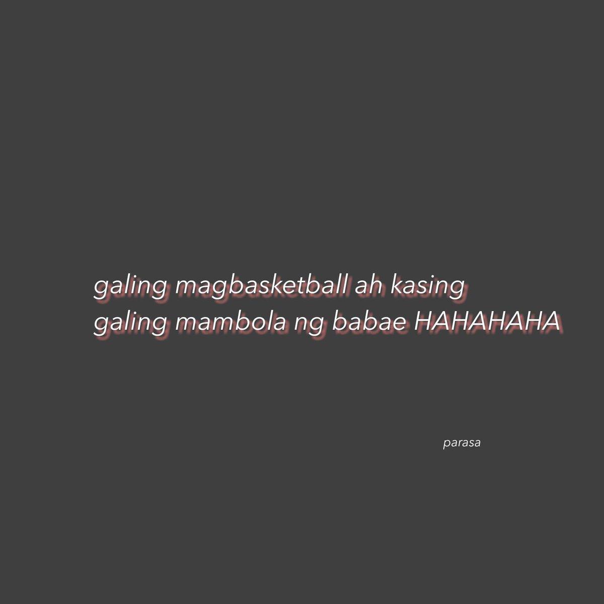 Sa basketball lang po ako marunong mang iwan 😇😅 Ctto.