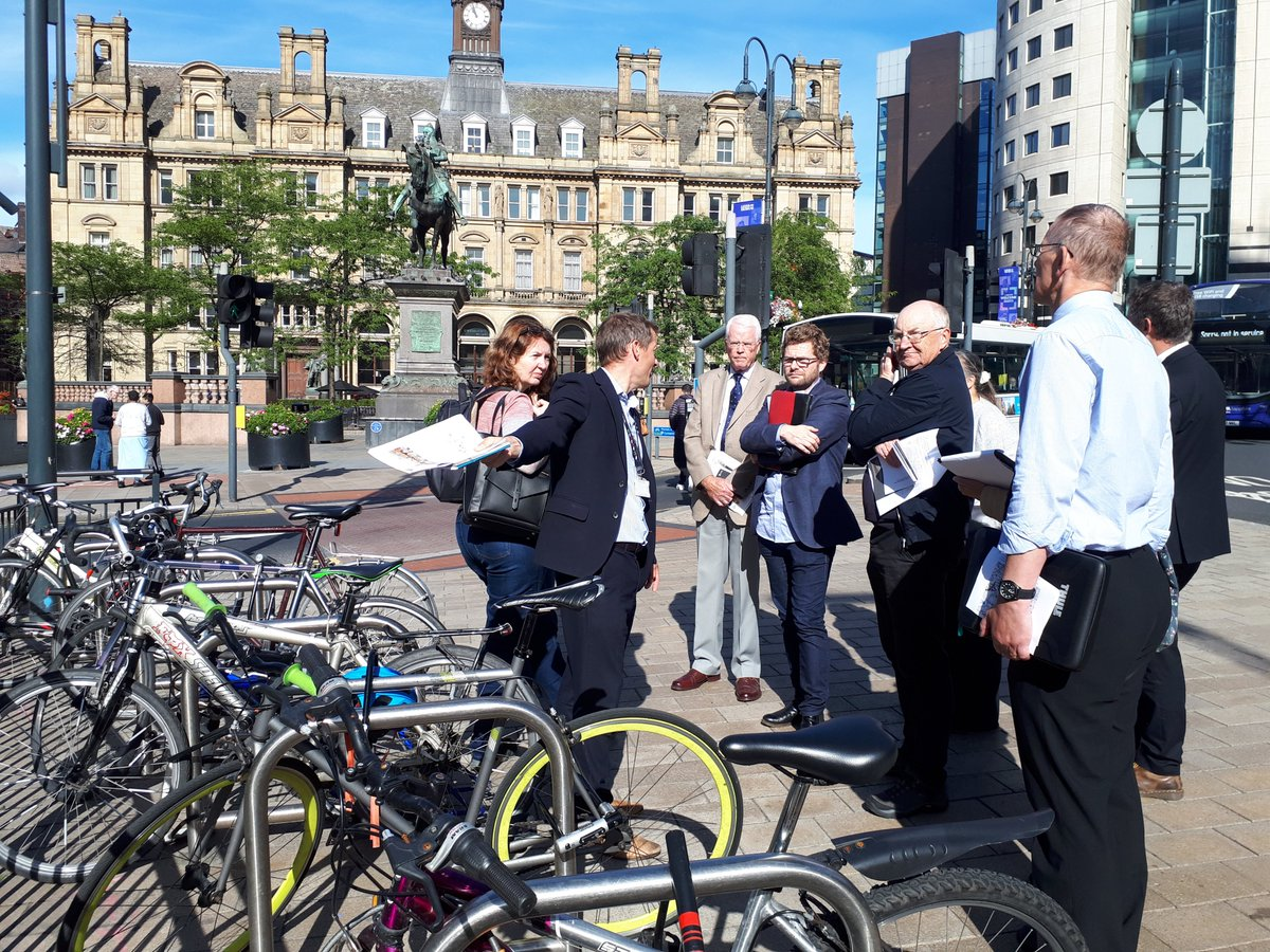 The Climate Emergency Advisory Committees working group on transport took part in a guided tour of the city centre earlier. Members learnt more about the great work of @Leeds_Highways and @ConnectingLeeds to re-design the centre, support active travel & improve public transport