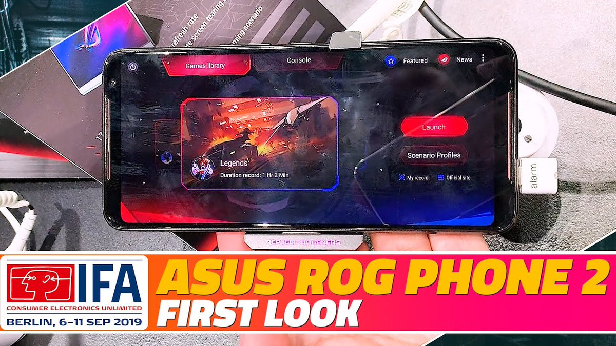 Here's our first look at the Asus ROG Phone 2, the powerful new gaming smartphone