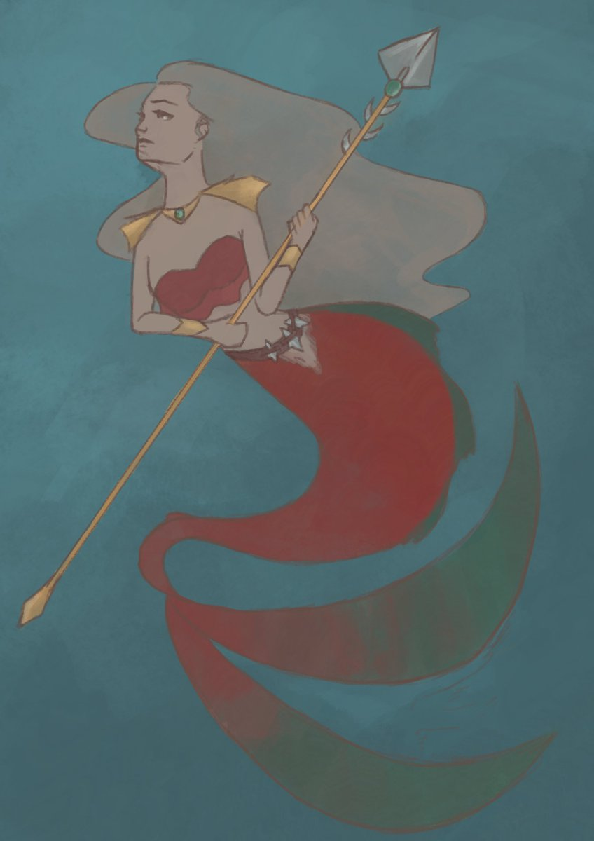 a piece I did for mermay, as a warrior mermaid.   #mermay #mermaid<br>http://pic.twitter.com/CKCHTCUH3G