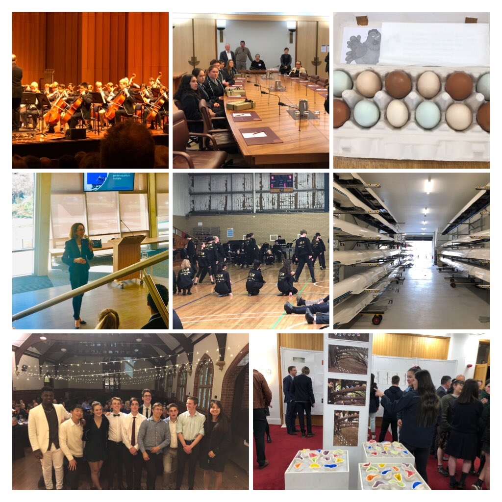 What a wonderful week at @CanberraGrammar: 90th Anniversary megaConcerts, Indigenous Scholars at Parl't House, #CGSInsight, soirées, ADT exhibition, inaugural #CGSDanceFest Assembly, new #CGSRowing Centre, House Dinners, Evening of Fine Music, sports finals, coloured eggs & more!