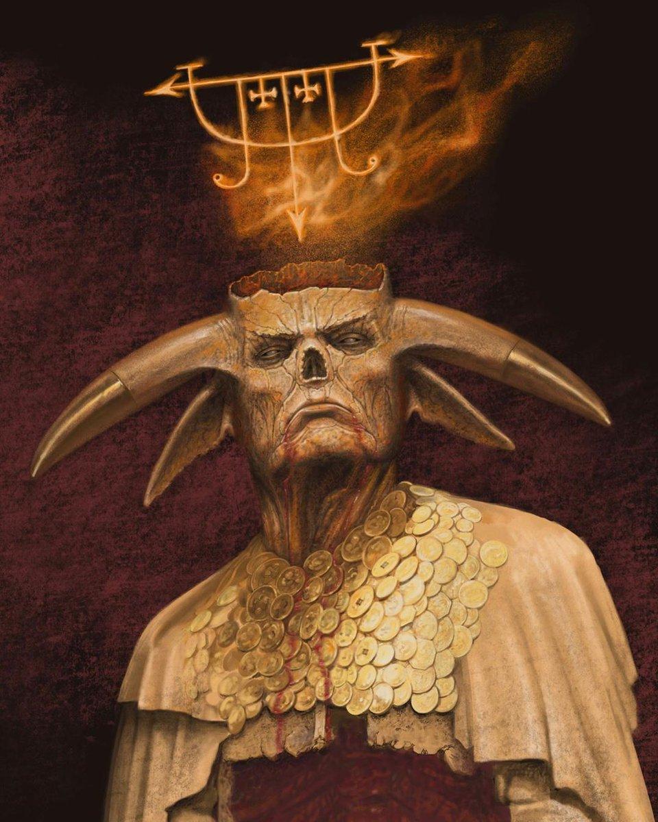 "Authorship.me™ Inc. on Twitter: ""#Inspiration>> #Regram ☠️ #FridayThe13th 💀 #HorrorArt #Follow>> Showcasing #Artwork by @waynebarlowe_thedarkness: Title: ""Mammon"" #waynebarloweart #mammon #demon #occult #occultart #darkart Follow>> @authorship.me on ..."