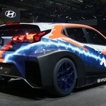 Image for the Tweet beginning: Electric Hyundai Veloster race car