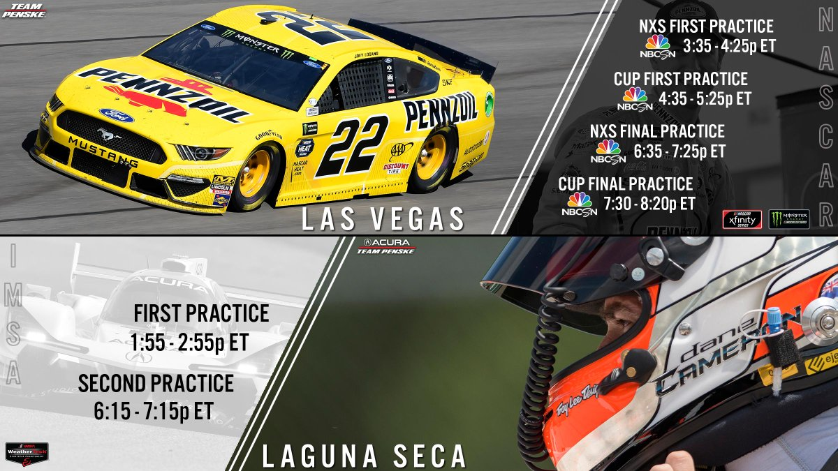 .@NASCAR and @IMSA this weekend? We are ready for this. 🤩🏁 #NASCARPlayoffs | #IMSA