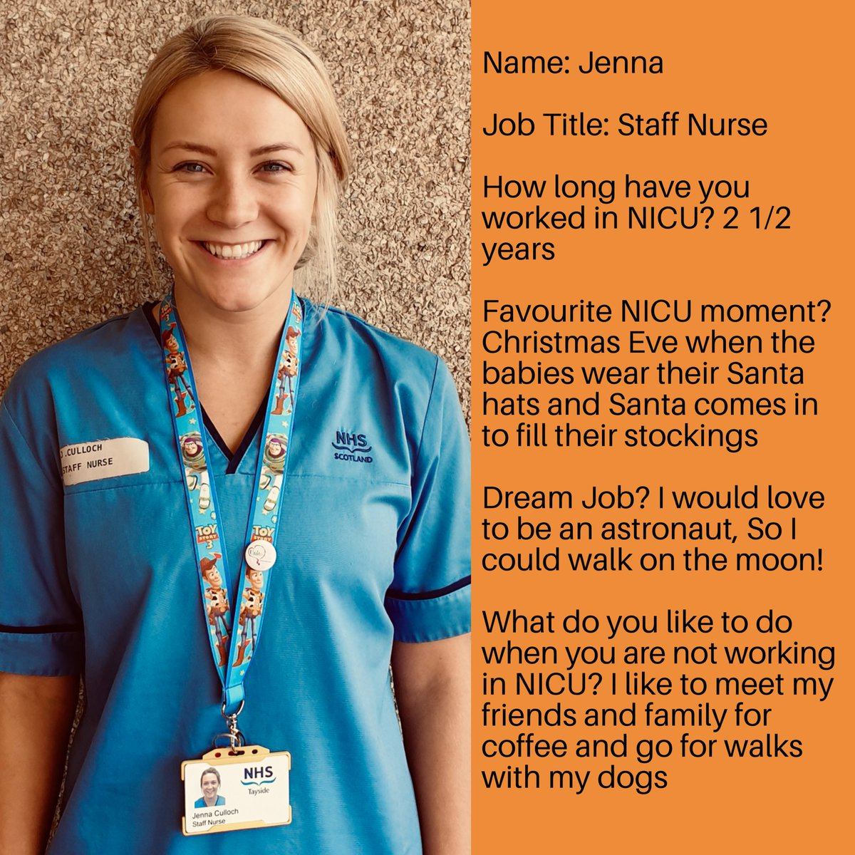 It's a new month, which means meeting another member of staff! Meet Jenna! #nicu #neonatal #neonatalnursing #nursing #ninewells @NHSTayside https://t.co/xihHtz71kq