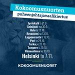 Image for the Tweet beginning: Tänä syksynä Kokoomusnuorille valitaan uusi