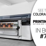 Image for the Tweet beginning: At this year's @PrintingUnited event,