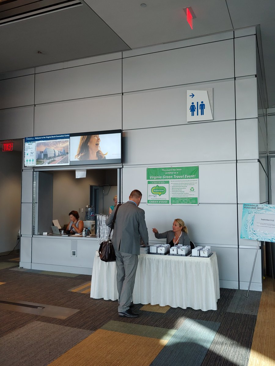 Thank you VA AWWA & VWEA for bringing your Virginia Green certified WaterJAM 2019 Conference to the LEED® certified Virginia Beach Convention Center!