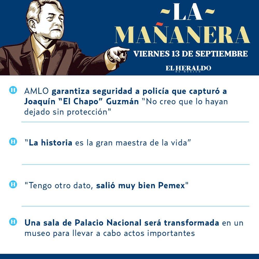 Por si te lo perdiste, estos fueron los temas de @lopezobrador_ en #LaMañanera ✍🏻➡️http://bit.ly/2Q8WNSe