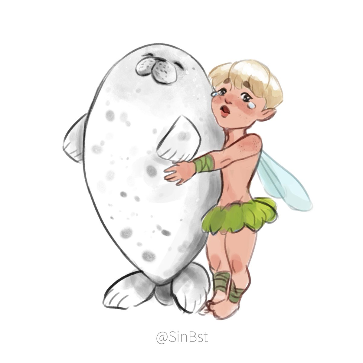 He really wanted the seal plushie... #Jimin #btsfanart <br>http://pic.twitter.com/LYAvK0mJHA