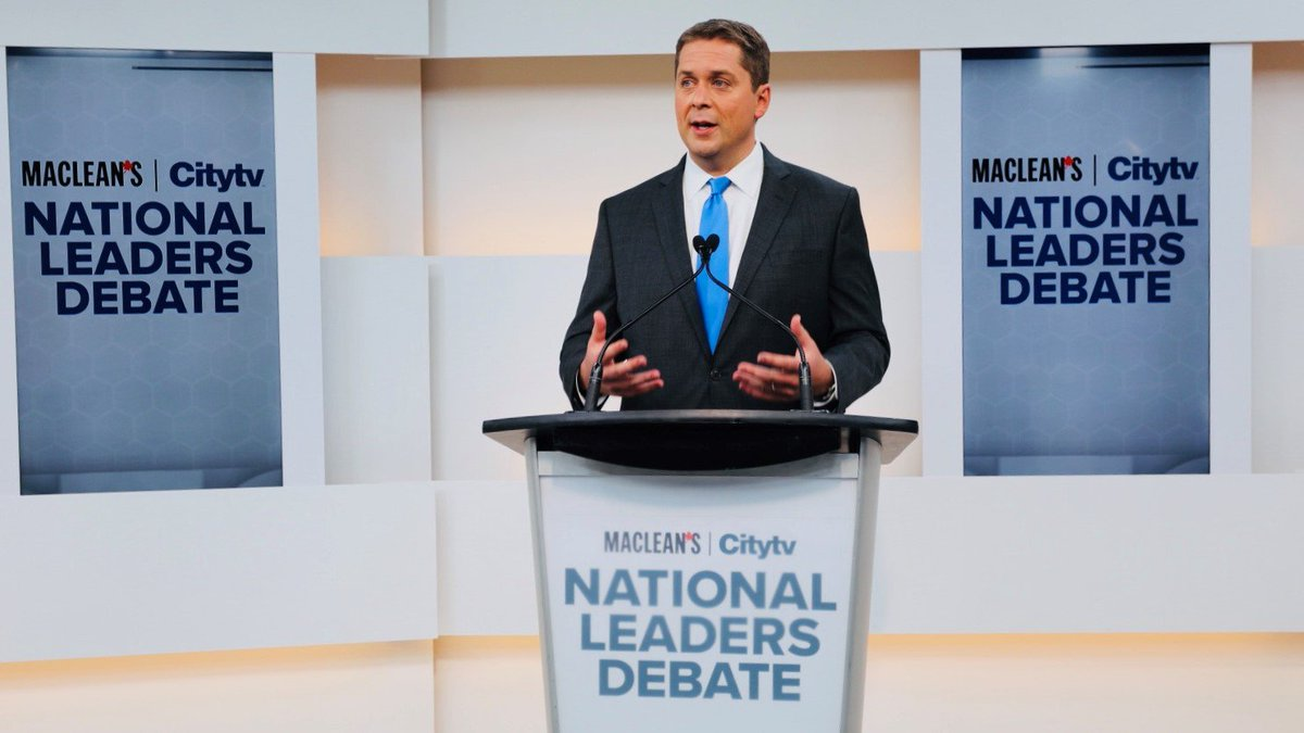 This election will come down to one simple question: Who do you trust to help you get ahead? I just finished tonight's leaders debate and Justin Trudeau didn't even bother showing up.