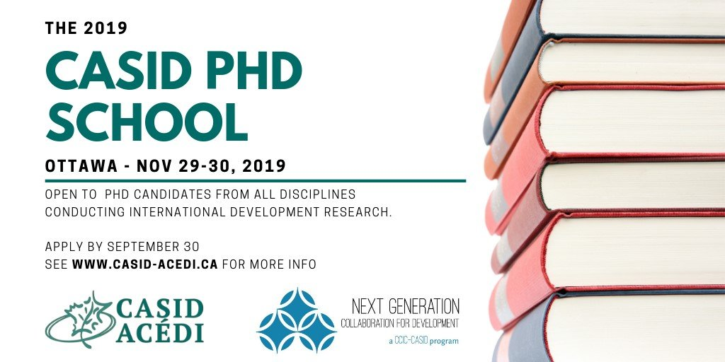 As part of our @CASID_ACEDI @CCCICCIC @CanWaCH collaboration, all #PhD participants will be invited to join the @GlobalSummitCAN on November 27-28 in #Ottawa!You don't miss this opportunity!#PhD #phdlife #phdadvice