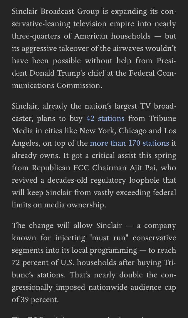 FYI America, Sinclair is run by & for GOP operatives. #BoycottSinclair.
