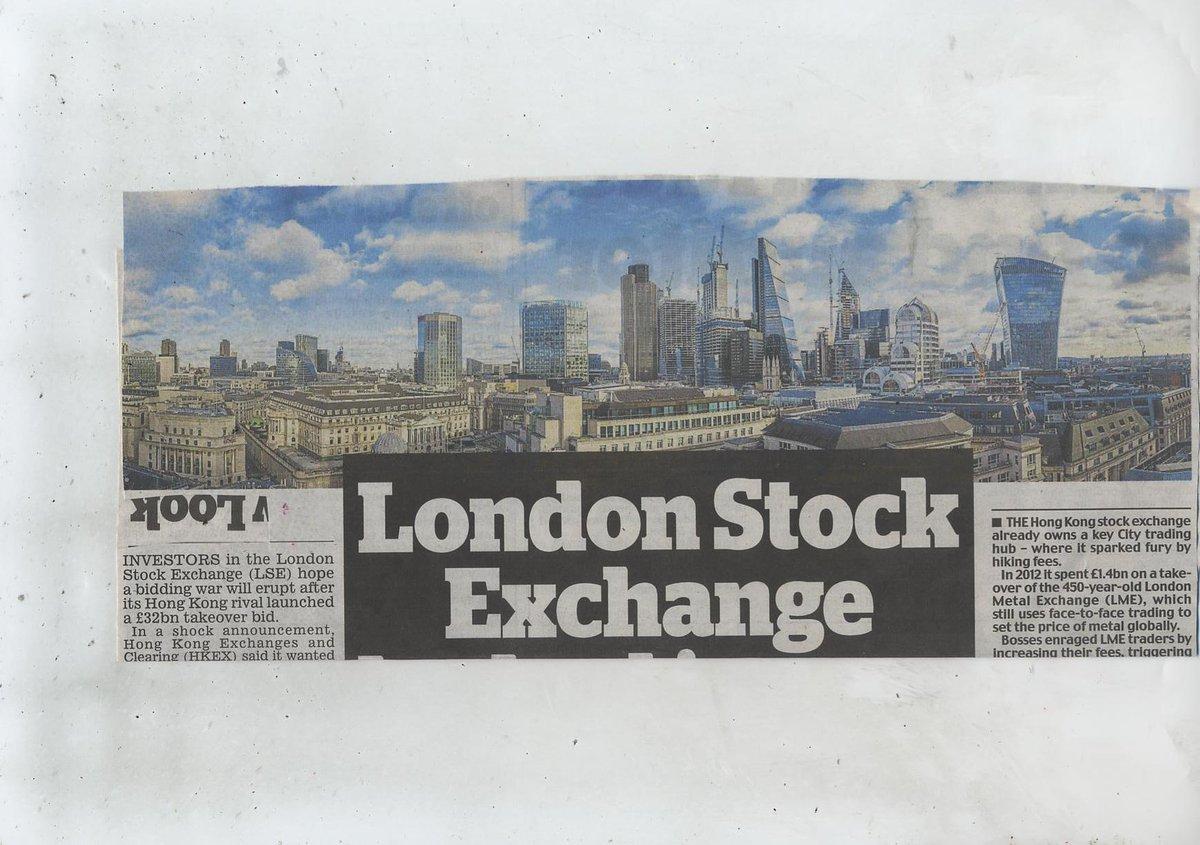 London stock exchange locked in new bid battle.......!