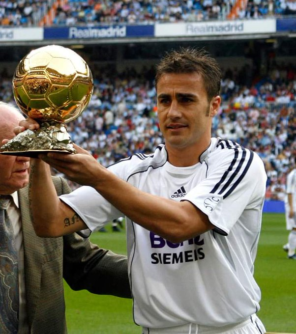 The only defender in this century to win the ballon d\or. Happy birthday Fabio Cannavaro.