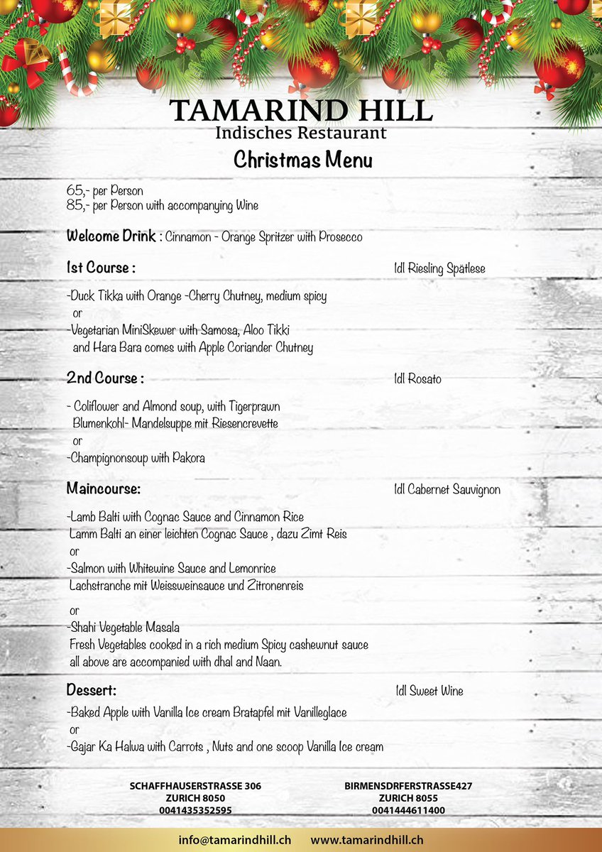 Planning your Christmas party venue !!!  Choose us   A sneak peak into one our Christmas menu !!! #zurich #zurichchristmas #zurich_switzerland #zurichchristmasmarkets #zürichchristmas #zurichchristmasparty #zurich#zurichblogger #hellozurich #ethzurich #zurichcompanypic.twitter.com/wR7wJ5lbh8