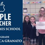 Image for the Tweet beginning: Congrats to Mrs. Granato, our