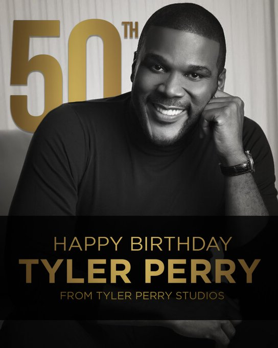 Happy 50th Birthday to Tyler Perry from your Tyler Perry Studios Family!