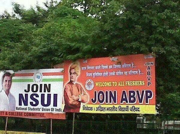 This picture is a stark reminder of why exactly #ABVP won!   #DUSU  #DUSUElection2019  #ABVPWinsDUSU<br>http://pic.twitter.com/sxe0CJi4xM