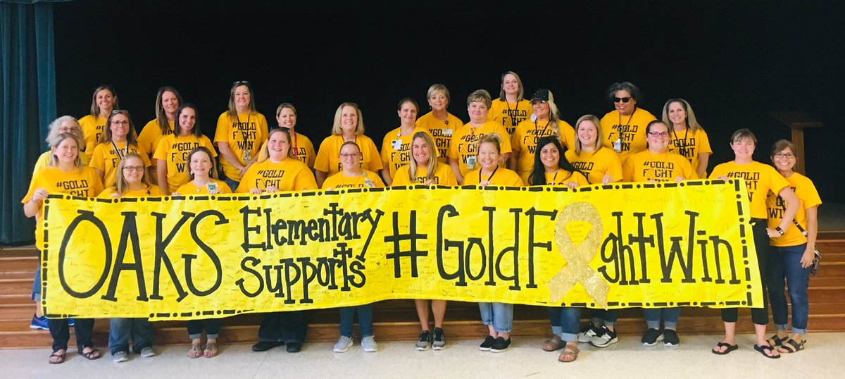 Oaks Elementary raised OVER $1050 for Addi's Foundation to help childhood cancer!!! @HumbleISD @GOLDFIGHTWIN1 #everychildeveryday #GoldFightWin @ElizabethFagen<br>http://pic.twitter.com/D8dxg3RBQQ