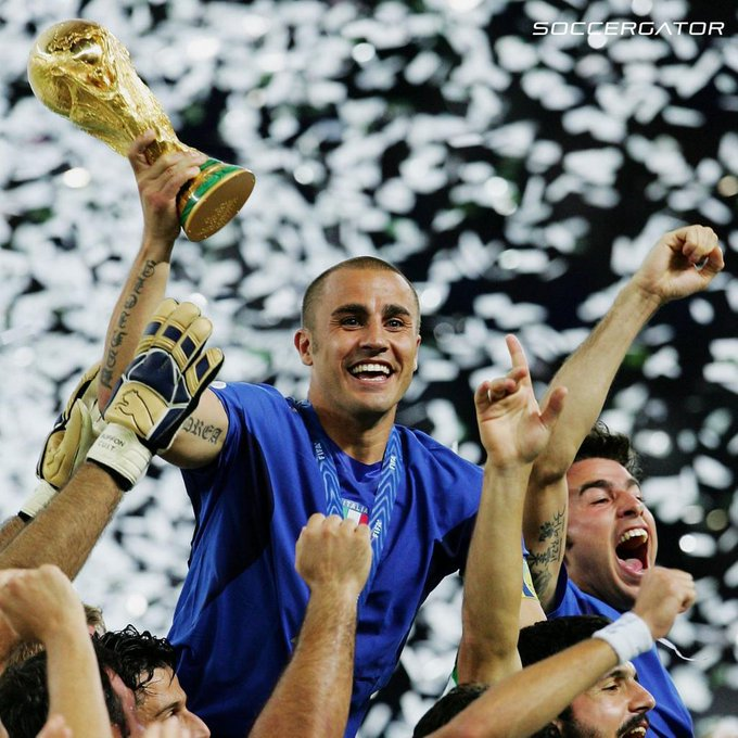 Happy birthday Fabio Cannavaro, World Cup champion and the only defender this century to win the Ballon d\Or