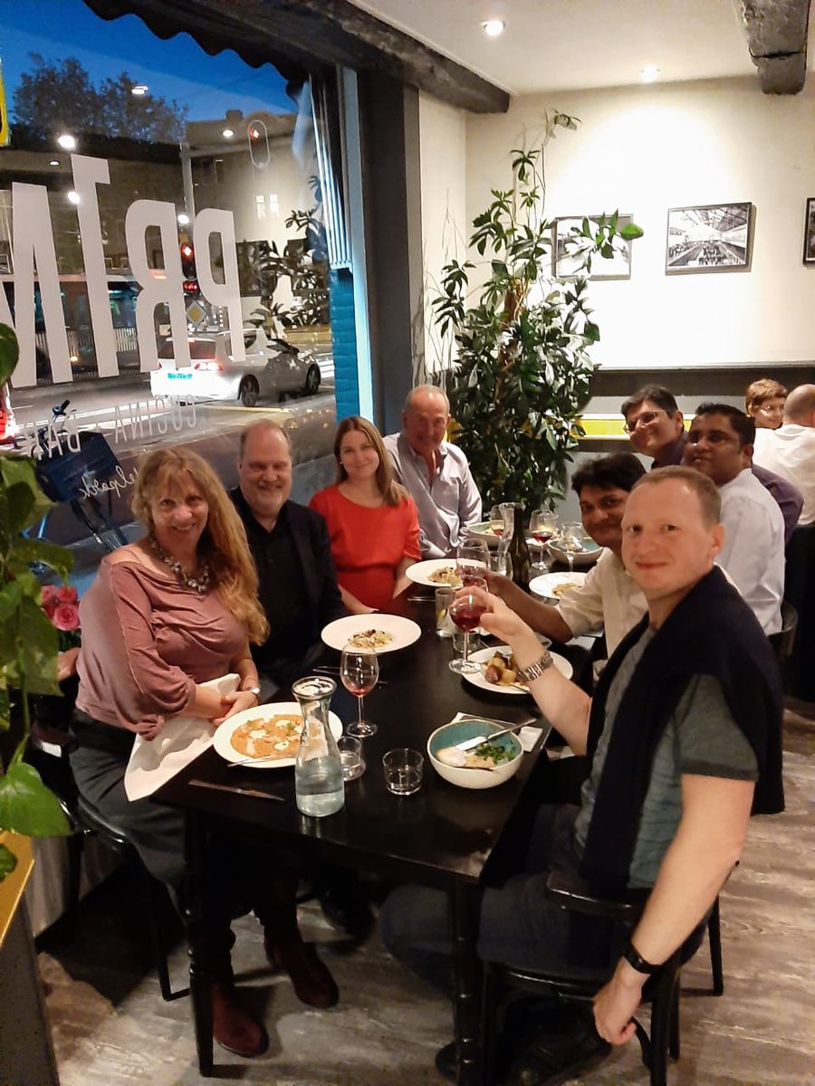 All work, no play isn't good. Dinner with Team BroadView having a specular meal  at Primi Cucina  in Amsterdam https://t.co/c0uN8vKigp for #IBCShow2019  Our group from Toronto, New Jersey, Mumbai and Moscow enjoyed this first day .  @utosolutions @IBCShow https://t.co/kuAqYgG2Iv