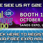 Image for the Tweet beginning: Join us at @G2Eshows and