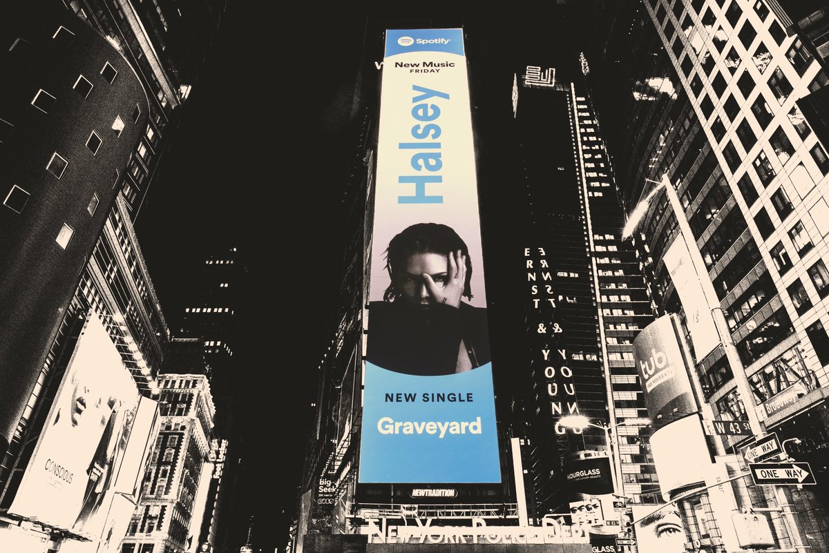 """u can listen to """"Graveyard"""" on @Spotify now 🌸 halsey.lnk.to/inmyhead"""