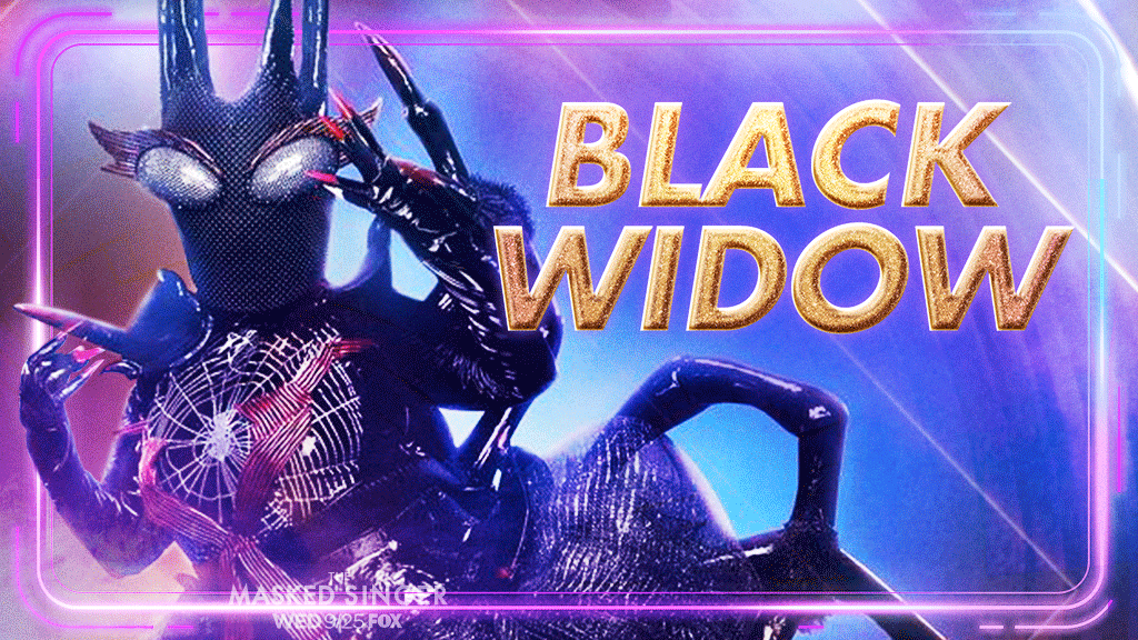 who was the black widow on masked singer