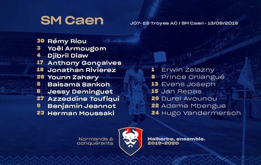 [7e journée de L2] ES Troyes AC 2-1 SM Caen EEXAHcyXYAEIHIc