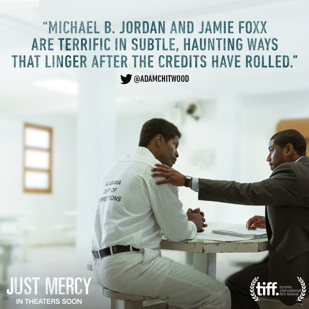 See @MichaelB4Jordan and @IAmJamieFoxx in #JustMercy. In theaters December.