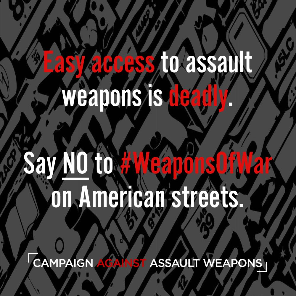 In shootings with assault weapons or high-capacity magazines, 155% more people are shot and 47% more people are killed. These weapons of war were designed for mass destruction. They have NO place in civilian hands! #BanAssaultWeapons https://t.co/DPVeLiUMGZ